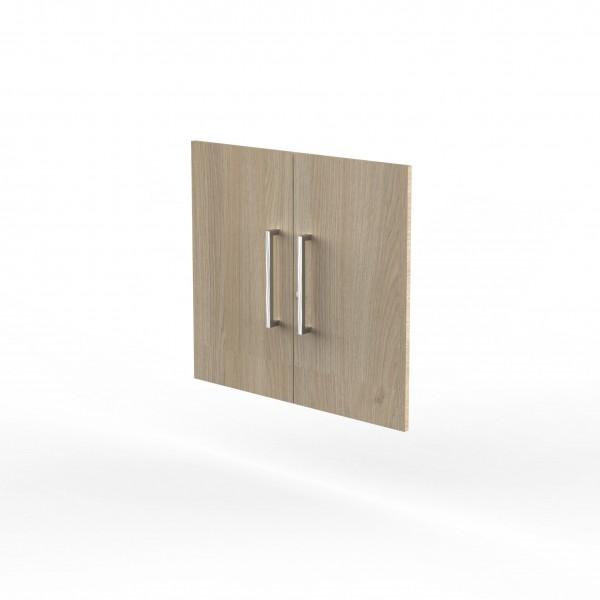 Vorbautüren für Einzelregal, Abschließbar, 2 OH, Eiche