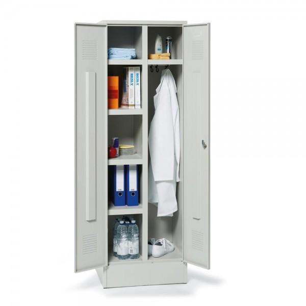 Garderoben-/Fächerspind, 2 Abteile 185x60x50 cm, Drehriegel