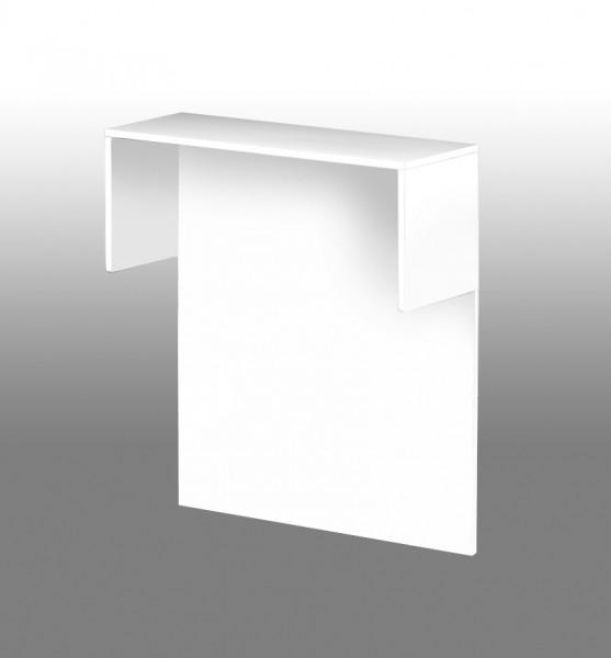 Sichtschutzaufsatz mit Thekenfunktion, Weiß