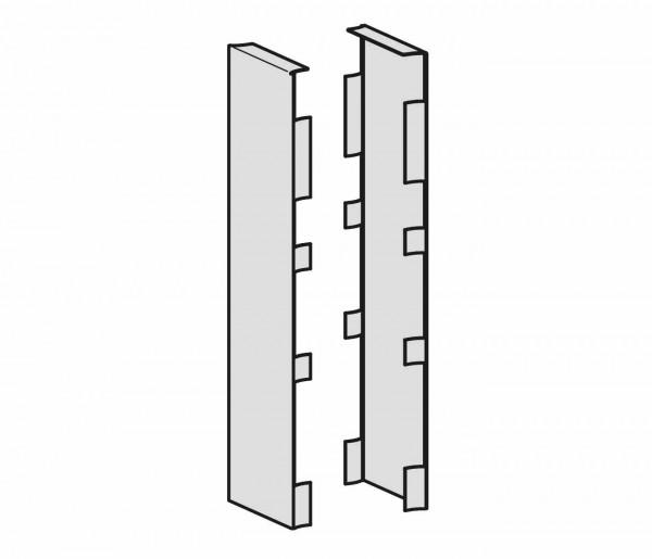 Blendenset Außenseite für zwei C Fuß Seitenteile, Silber