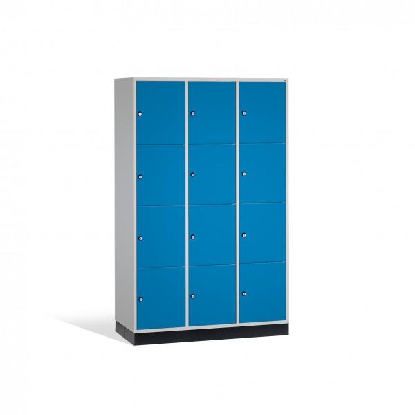 Schließfachschrank Intro XL, 12 Fächer, 195x122x60cm