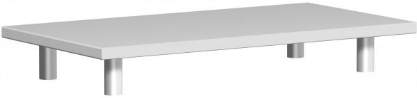 Aufsatzplatte, 80x42x11cm, Lichtgrau