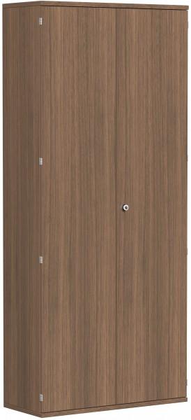 Garderobenschrank mit ausziehbarem Garderobenhalter, 100x42x230cm, Nussbaum