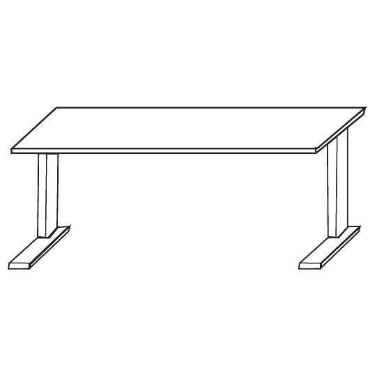 Schreibtisch COMBI LINE 180x80x72 cm