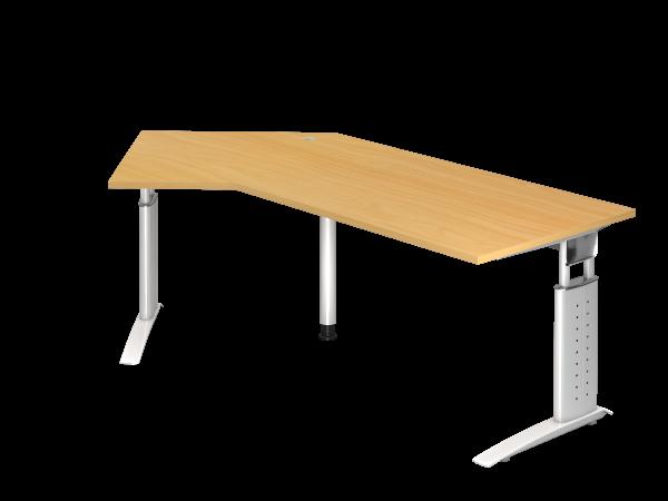 Winkeltisch 135° C-Gestell 210 x 113 cm