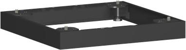 Metallsockel, Auswahl entsprechend Schrankbreite, 40x5cm, Schwarz