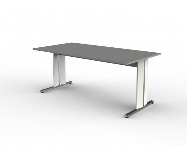 Schreibtisch Enter, 180x80x75 cm, C-Fuß Gestell, Graphit