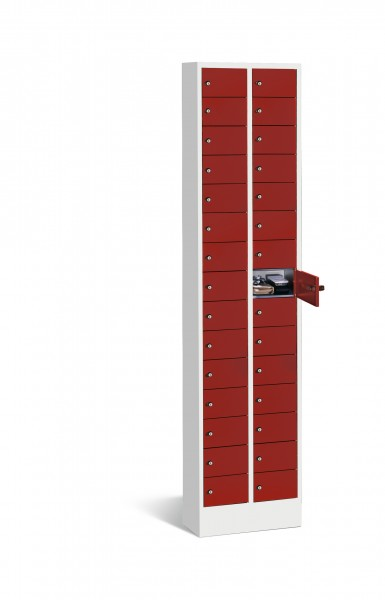 Kleingefachschrank Intro mit 30 Fächern, 195x46x20cm