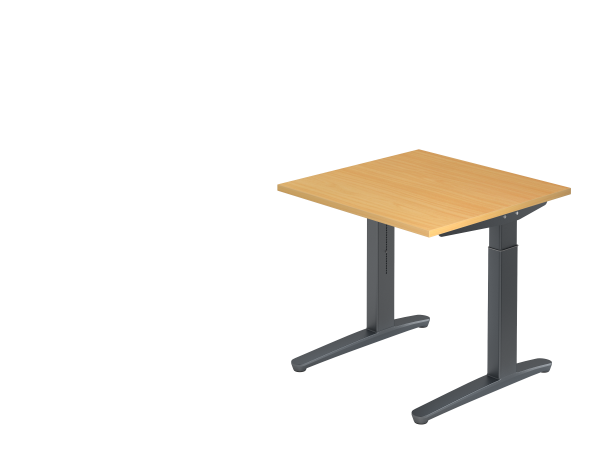 Schreibtisch C-Fuß 80 x 80 cm Buche / Graphit