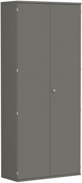 Garderobenschrank mit ausziehbarem Garderobenhalter, 100x42x230cm, Graphit