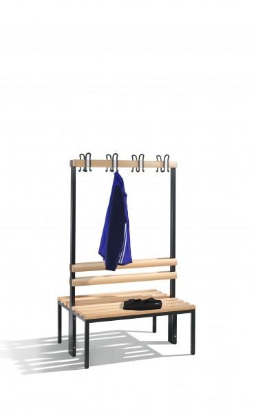 Doppelseitige Garderobenbank Basic, 165x100x75cm