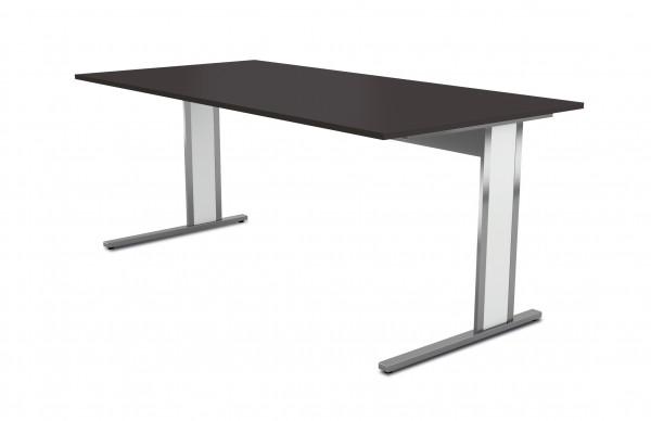 Schreibtisch 4511.1 AVETO-Edelstahl mit C-Gestell 180x80x75cm