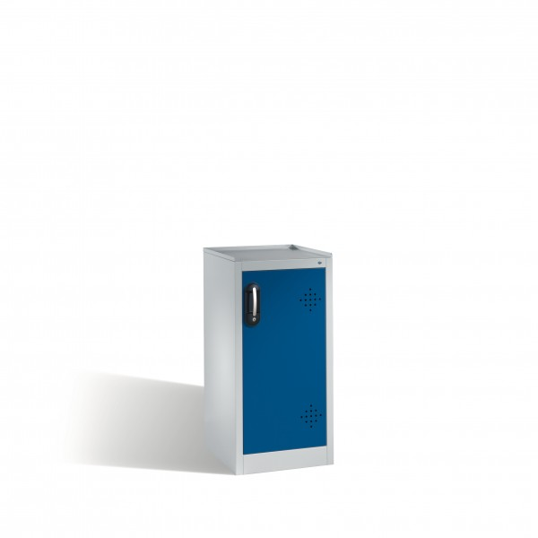 Umwelt-Beistellschrank mit Drehtür, 2 Wannenböden, 102x50x50cm