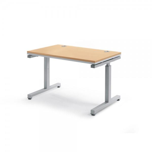 Schreibtisch Rechteck Comfort MULTI 2.0 120x80x68-82 cm