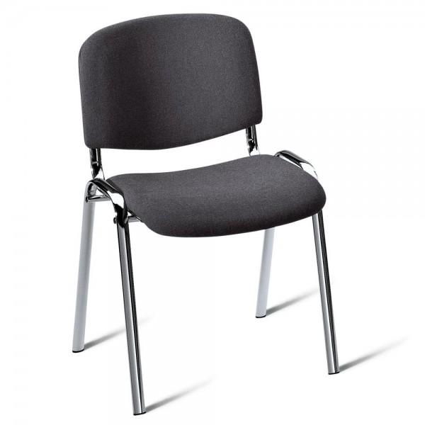 8er Set-Besucherstühle ISO Bezug Stoff Basic, anthrazit