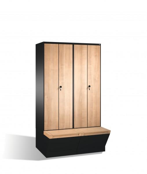 Doppelspind Evolo mit Sitzbox, 4 Abteile, 209x120x50/81cm
