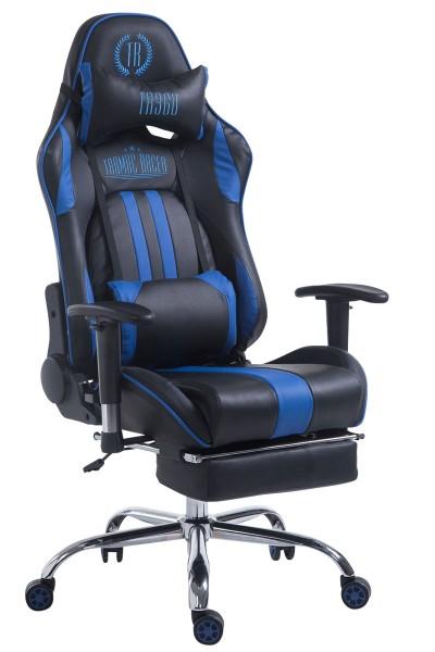 Racing Bürostuhl Limit mit Fußablage , schwarz/blau