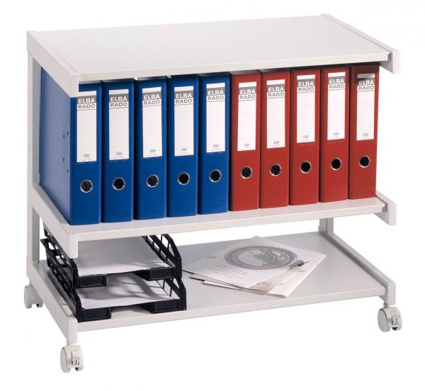 Bürowagen mit 3 Böden 81 x 43 x 67 cm Grau / Grau