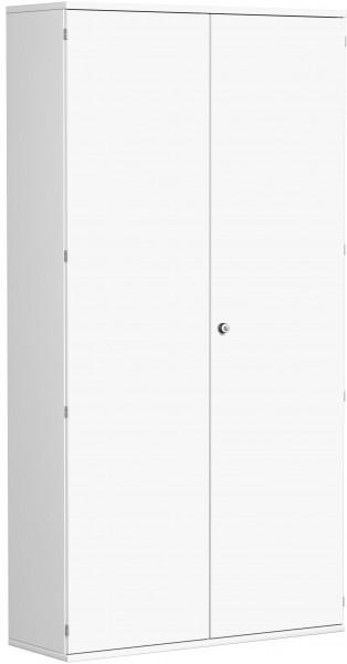 Garderobenschrank mit ausziehbarem Garderobenhalter, 120x42x230cm, Weiß