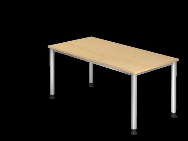 Schreibtisch 4-Fuß rund 160 x 80 cm