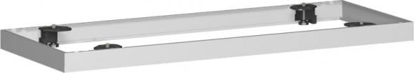 Metallsockel für Querrollladenschrank, 100x5cm, Silber