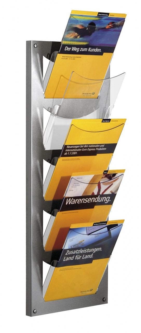 Wandmagazin NovaX mit 5 Fächern