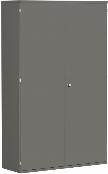 Garderobenschrank mit ausziehbarem Garderobenhalter, 120x42x192cm, Graphit