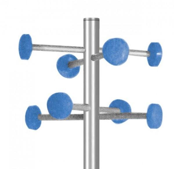 Garderobe G 20 blau mit 8 Aufhängern