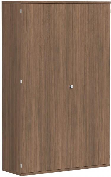 Garderobenschrank mit ausziehbarem Garderobenhalter, 120x42x192cm, Nussbaum