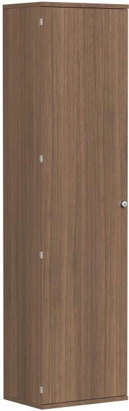 Garderobenschrank mit ausziehbarem Garderobenhalter, 60x42x230cm, Nussbaum