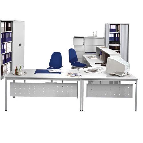 Sichtblende für Schreibtisch BASE L, 182x30 cm, für Tischbreite 200 cm