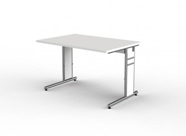 Schreibtisch Form 4 C-Fuß Gestell 120 x 80 x 68-82 cm