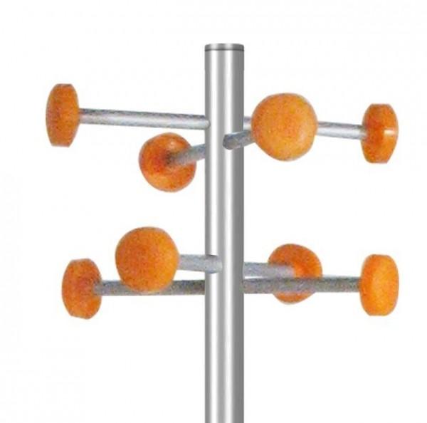 Garderobe G 20 mit 8 Aufhängern Orange