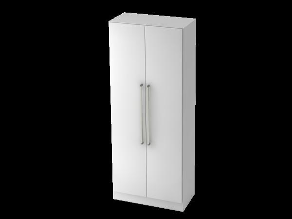 Garderobenschrank 5 Ordnerhöhen, CE Weiß / Weiß
