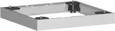 Metallsockel, Auswahl entsprechend Schrankbreite, 40x5cm, Silber