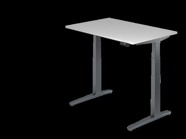 Sitz-Steh-Schreibtisch elektrisch 120 x 80 cm Grau / Graphit