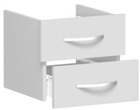 Schubkasteneinsatz für Korpusbreite 40 cm, 1 Ordnerhöhe, Lichtgrau