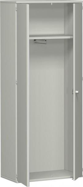 Garderobenschrank mit ausziehbarem Garderobenhalter, 80x42x192cm, Lichtgrau