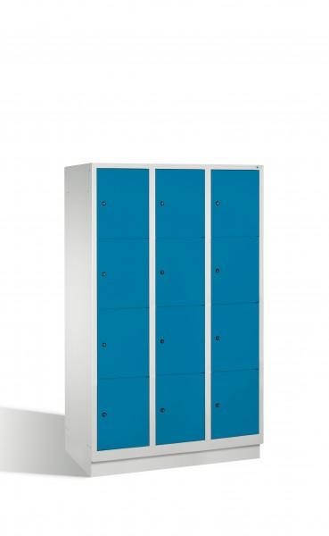 Fächerschrank Classic auf Sockel, 12 Fächer, 180x120x50cm