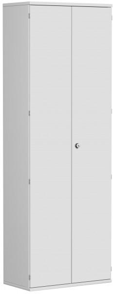 Garderobenschrank mit ausziehbarem Garderobenhalter, 80x42x230cm, Lichtgrau