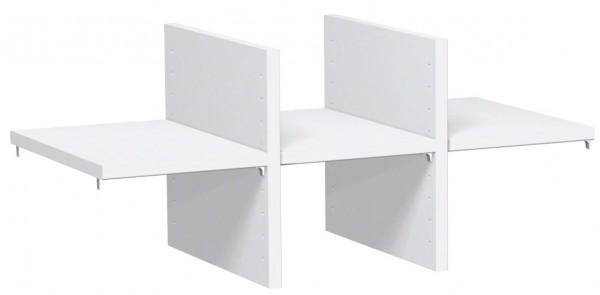 Regalausfachung für 1 OH, für Korpusbreite 80 cm, Weiß
