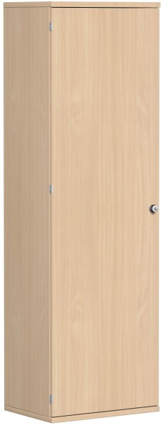 Garderobenschrank mit ausziehbarem Garderobenhalter, 60x42x192cm, Buche