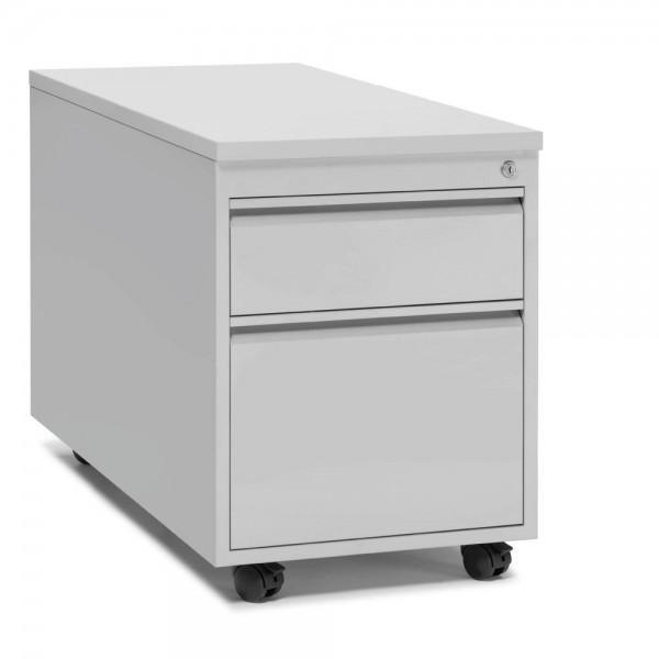 Rollcontainer BASE L 1 Schub und 1 Hängeregistratur 46 x 62 x 60 cm Lichtgrau
