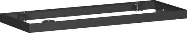 Metallsockel für Querrollladenschrank, 100x5cm, Schwarz
