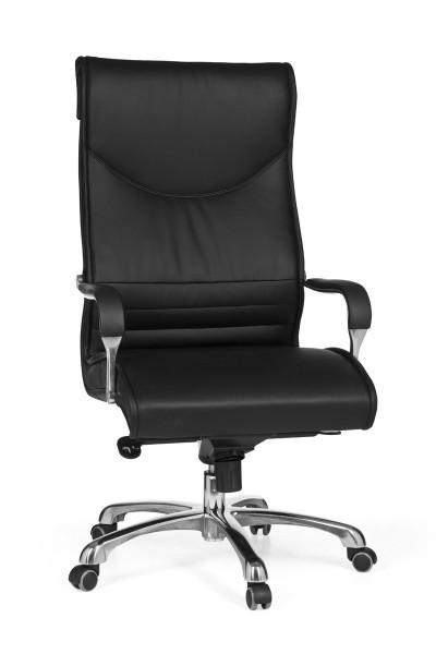 MILANO Bürostuhl, Schreibtischstuhl, höhenverstellbar, Kunstleder Schwarz