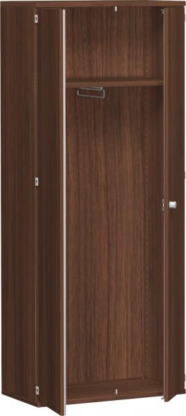Garderobenschrank mit ausziehbarem Garderobenhalter, 80x42x192cm, Nussbaum