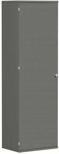 Garderobenschrank mit ausziehbarem Garderobenhalter, 60x42x192cm, Graphit