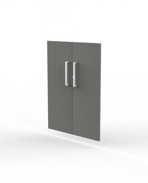 Vorbautüren für Einzelregal, Abschließbar, 3 OH, Grafit