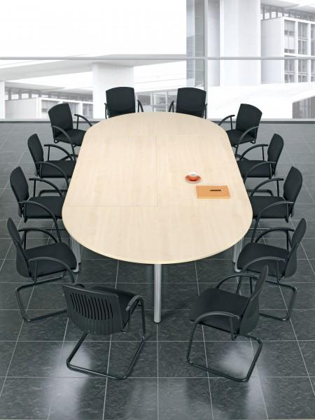 Konferenztisch Rundfuß Ovalform 240 x 90 x 72 cm