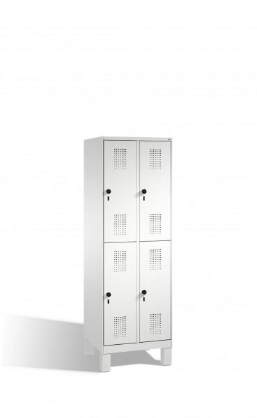 Doppelstockspind Evolo auf Füßen, 4 Fächer, 185x60x50cm